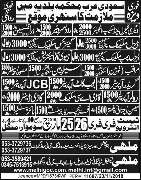 Engineering Staff jobs in Saudi Arabia