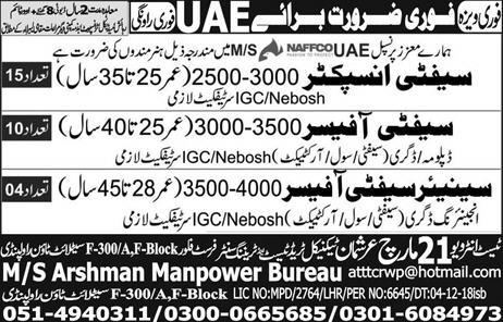 Safety Inspector Jobs in UAE