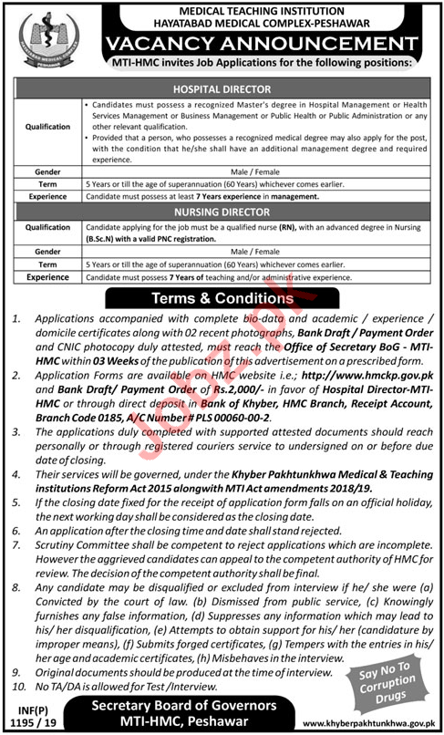 Medical Teaching Institution MTI Medical Staff Jobs 2019