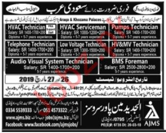 HVAC Technician, Pump Technician & HVAC Serviceman Jobs