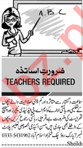 Daily Jang Teaching Staff Jobs 2019 in Islamabad