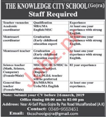 The Knowledge City School Coordinator & Teacher Job 2019