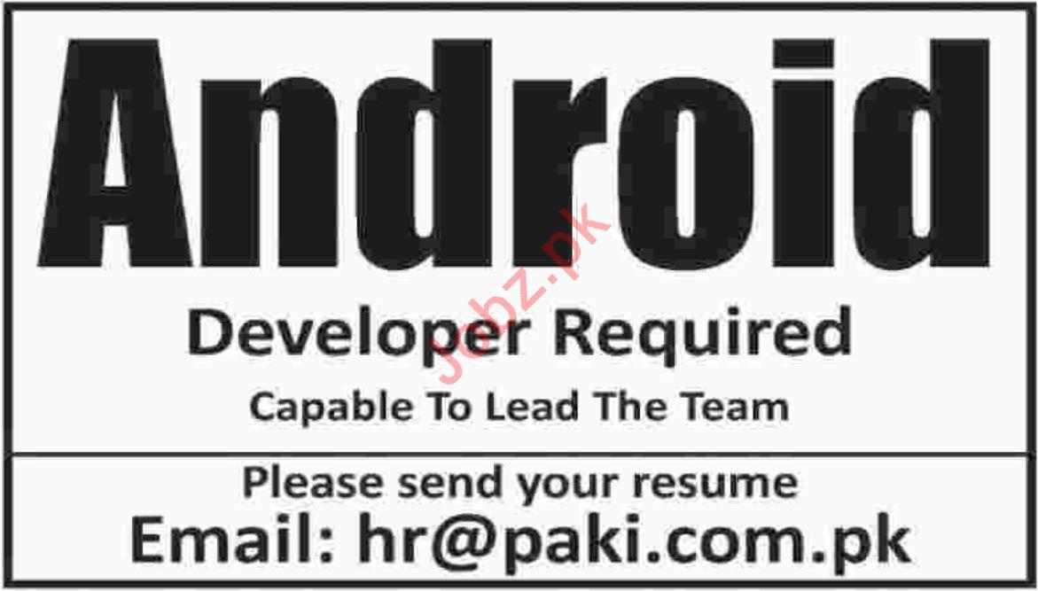 Android Developer Job 2019 in Karachi