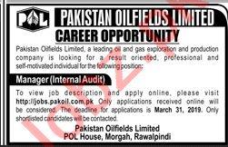 Pakistan Oilfields Ltd Manager Job in Rawalpindi