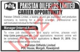 Manager Jobs in Pakistan Oilfiles Limited