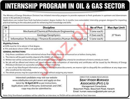 Ministry of Energy Internship Program 2019