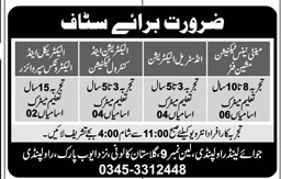 Technical Staff Jobs in Joy Land Private Limited