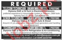 Technical Jobs 2019 in Lahore