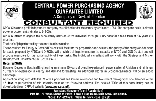 Consultant Jobs in Central Power Purchasing Agency