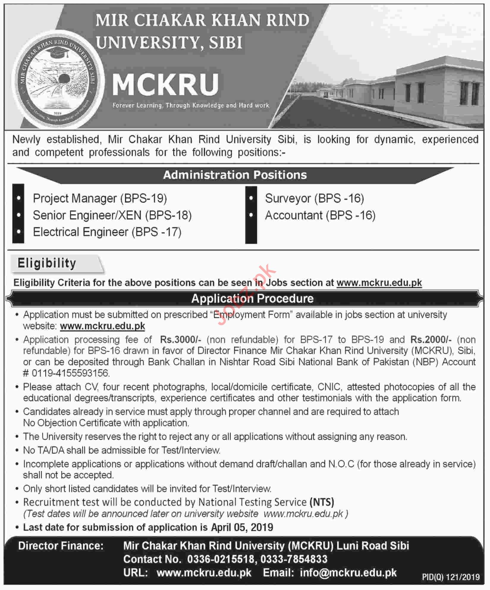 Management Jobs in Mir Chakar Khan Rind University MCKRU