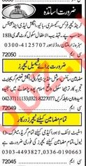 Khabrain Sunday Classified Ads 24th March 2019 for Teachers