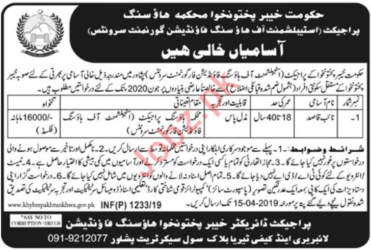 Naib Qasid Jobs in Establishment of Housing Foundation