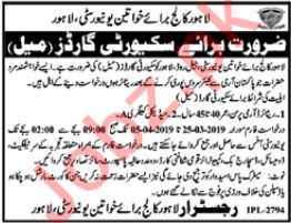 Lahore College For Women University Security Guards Jobs
