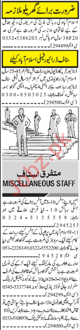 Daily Jang Newspaper Classified Jobs 2019 In Islamabad 2019