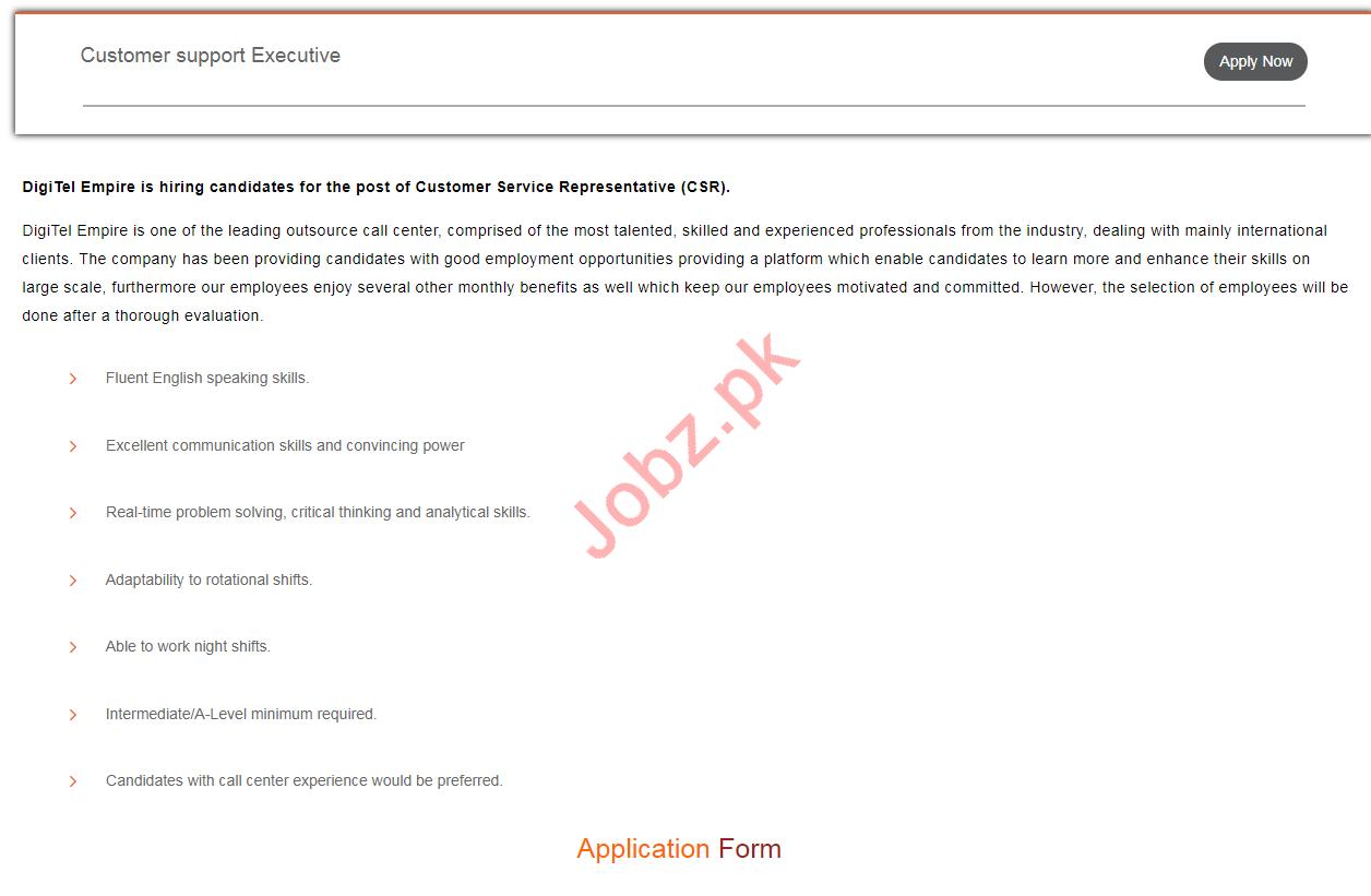 Digitel Empire Customer Services Representatives jobs 2019