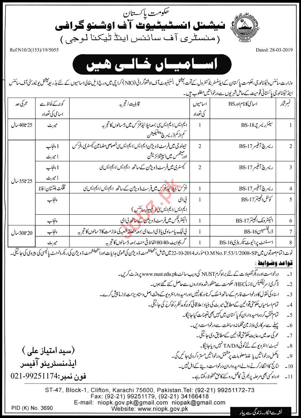 Ministry of Science & Technology Jobs 2019 in Karachi