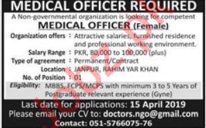 Medical Officer & Doctor Job 2019 For Rahim Yar Khan 2019