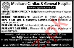 Cath Lab Technician Jobs in Medicare Cardiac