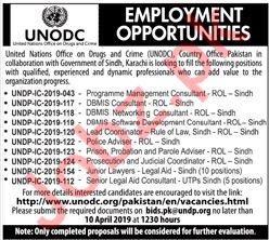 UNODC United Nations Office on Drugs and Crime Jobs 2019