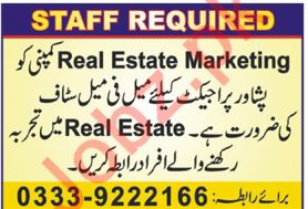 Real Estate Marketing Company Jobs 2019 in Karachi