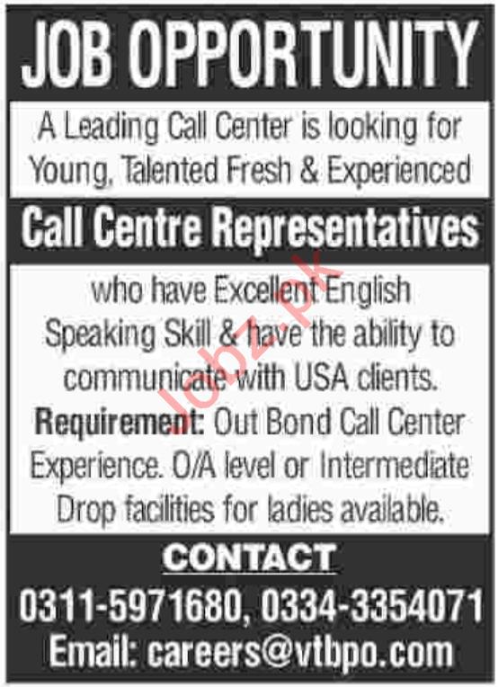 Call Centre Representatives Jobs 2019 in Karachi