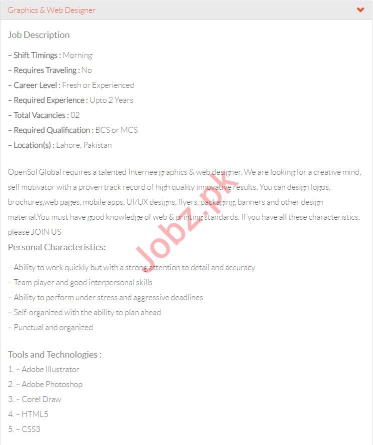 Graphic Designer & Web Designer Jobs in  OpenSol Global