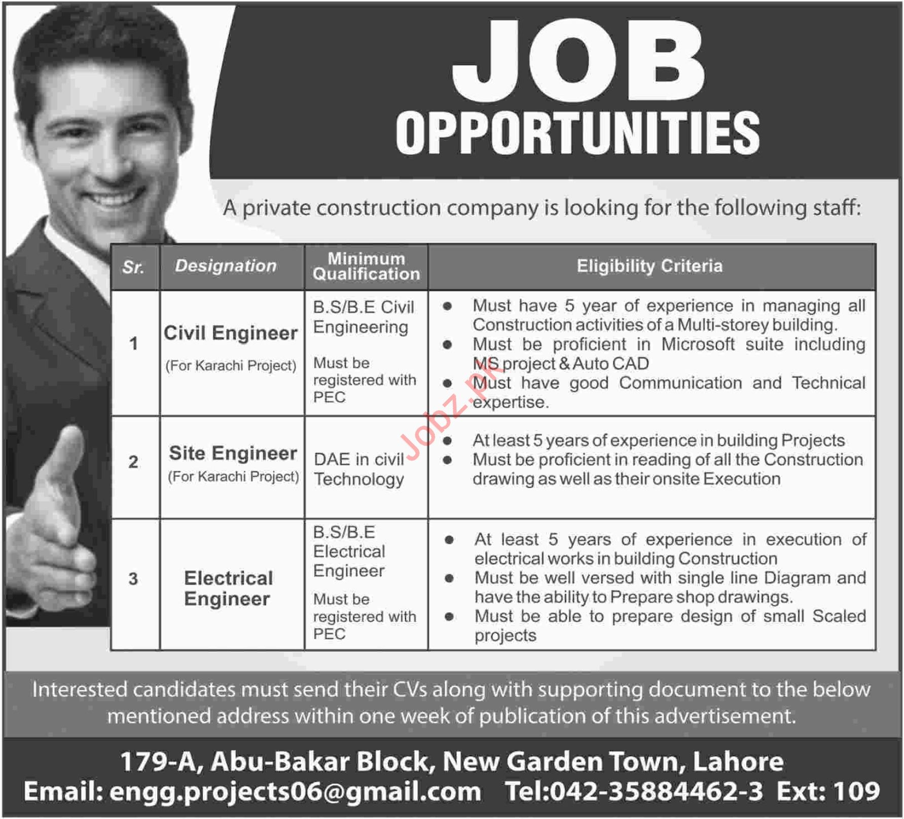 Engineering Jobs 2019 in Lahore