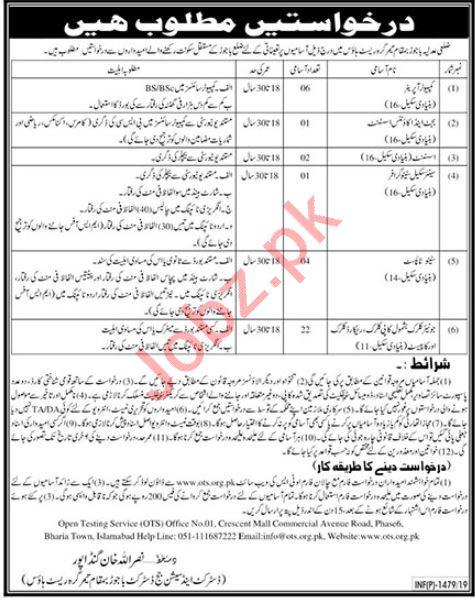District & Session Court Job in Bajaur
