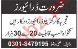 Driver Jobs in House 2019 Job Advertisement Pakistan