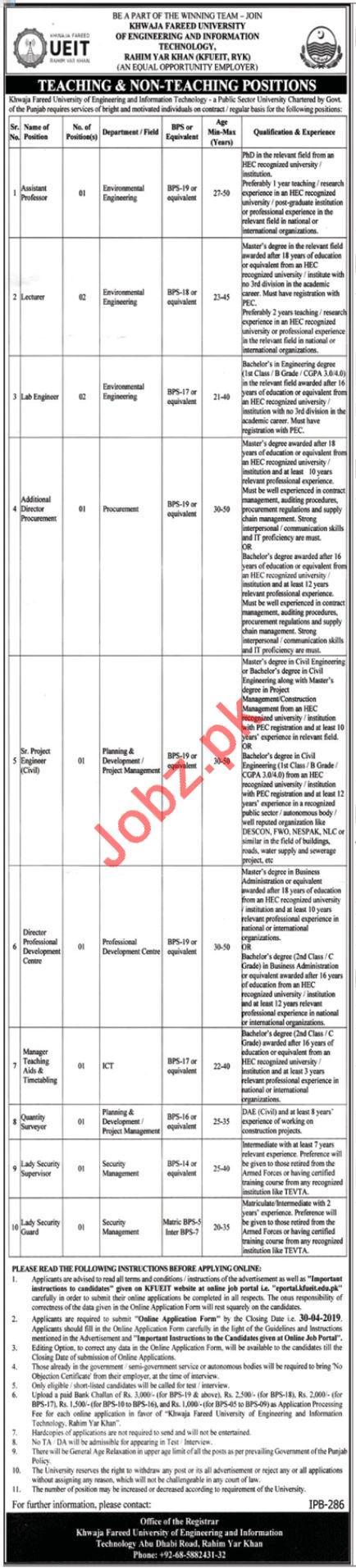 University of Engineering & Information Technology UEIT Jobs
