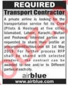 Transport Contractor Jobs in Airblue