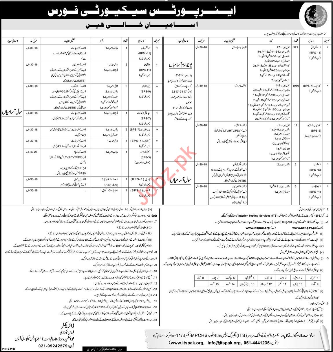 Airport Security Force ASF Management Job 2019