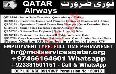 Qatar Airways Job 2019