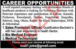 Sales Promotion Officer, Engineer & Technologist Jobs 2019