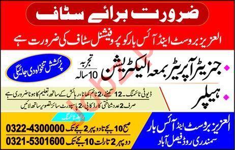 Generator Operator & Electrician Job in Faisalabad