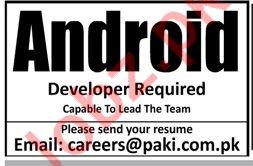Android Developer Job 2019 For Karachi
