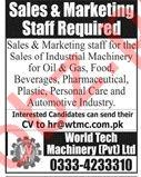 Sales & Marketing Staff Jobs in Private Company