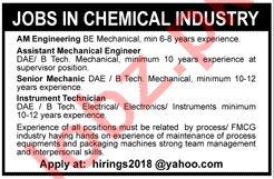 Chemical Industry Job 2019 in Karachi