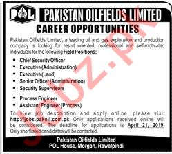 Pakistan Oilfields Limited POL Jobs 2019 in Rawalpindi