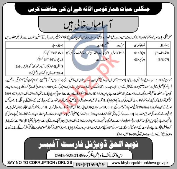 Forest Department Watcher Job in Peshawar