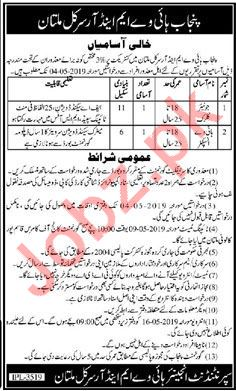 Clerical Staff Jobs in Punjab Highway M&R Circle