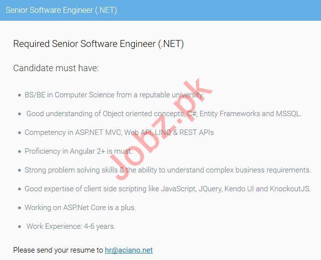Dot Net Software Engineer Jobs 2019