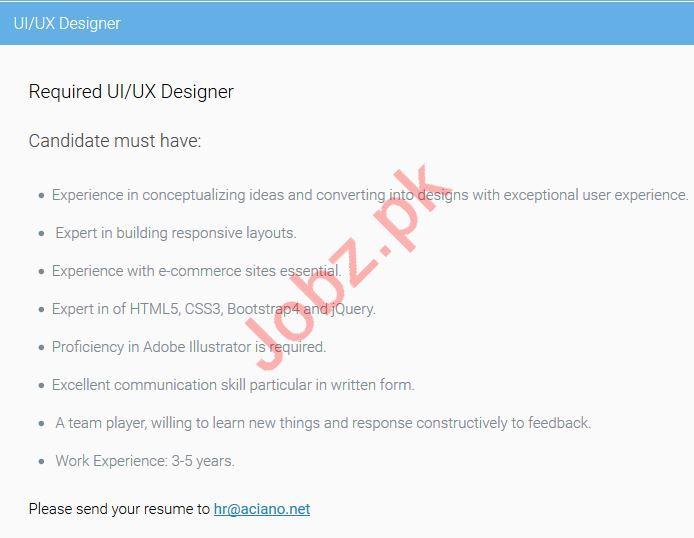 UI Designer & UX Designer Jobs 2019