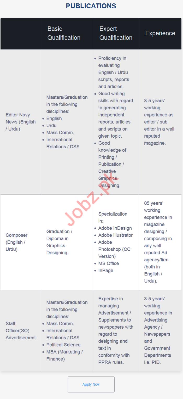 Bahria Enterprise Systems Editor & Composer Jobs 2019