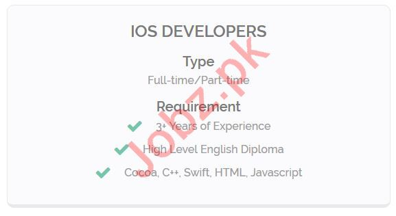 IOS Developer Jobs Opportunity in Lahore