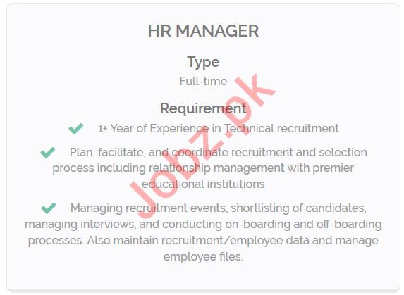 HR Manager Jobs Career Opportunity