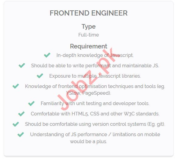 Front End Designer Jobs 2019 in Lahore