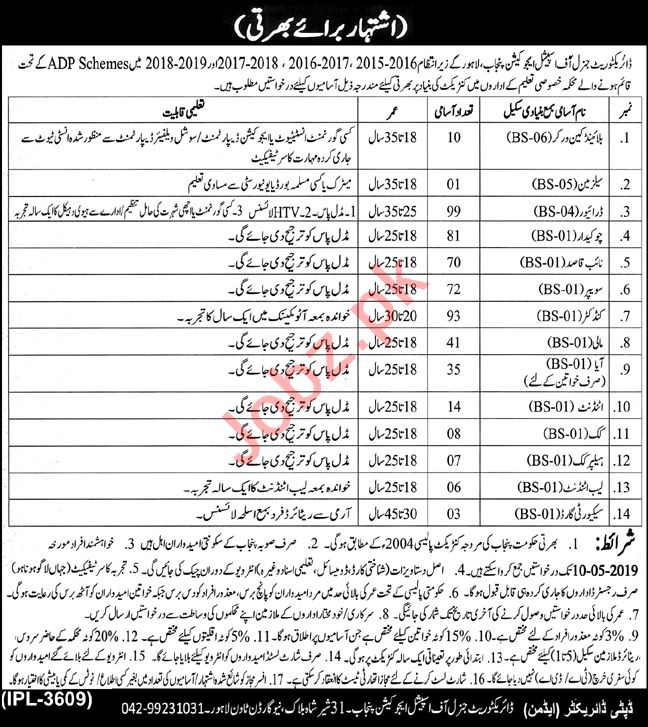 Directorate General of Special Education Department Jobs
