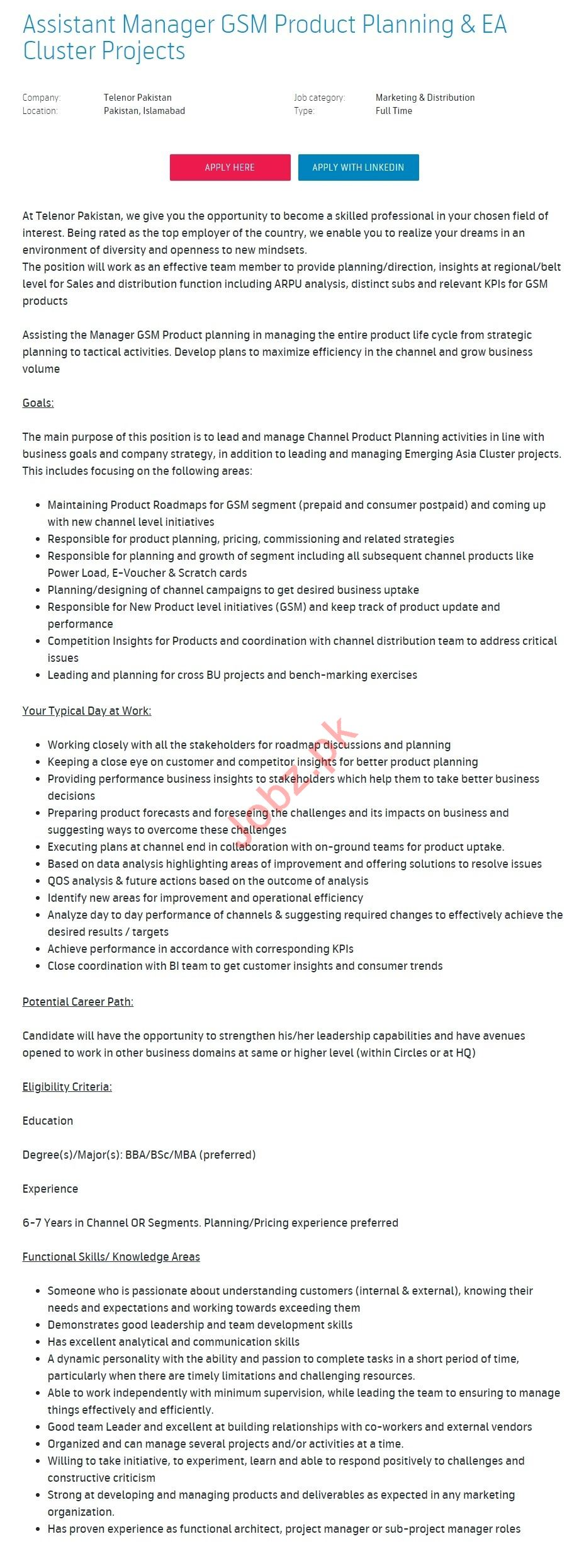 Assistant Manager GSM Product Planning Jobs 2019