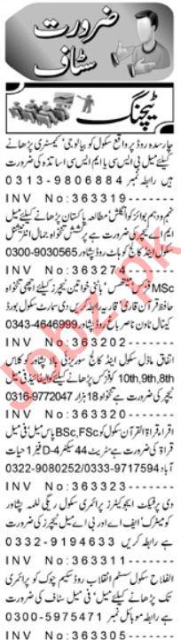Teaching Staff Jobs 2019 in Peshawar